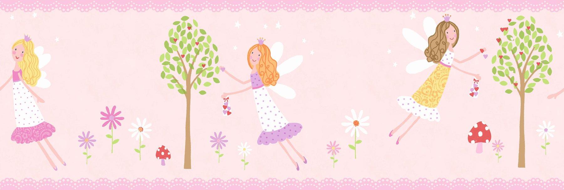Fun4Walls BO50052 Fairy Garden Peel and Stick Border