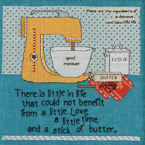 Stick of Butter Counted Beaded Cross Stitch Kit Curly Girl 2017 Mill Hill CG301711 ()