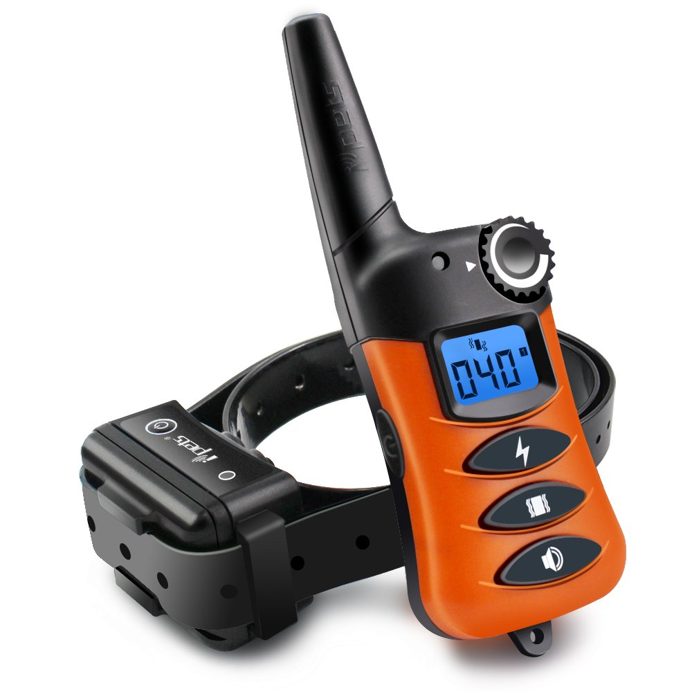 Ipets PET620-1 100% Waterproof & Rechargeable Dog Shock Collar 660 ft Remote Dog Training Collar with Beep Vibrating Electric Shock Collar for Dogs (10-100lbs)