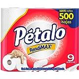Pétalo RendiMAX, Papel Higiénico Maxi Rollo, 9 Piezas Con 500 Hojas C/U