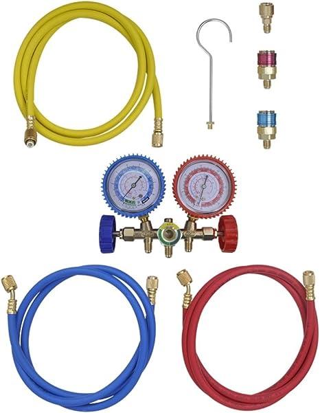Vidaxl Monteurhilfe 2 Wege 3 Schläuche Klimaanlage R134a R22 R12 R502 Set Küche Haushalt