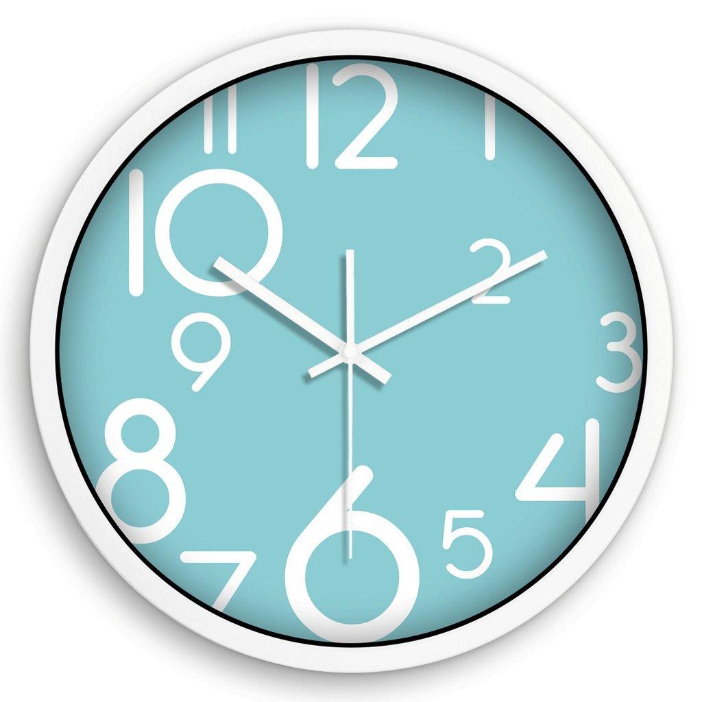 クリエイティブウォールクロックミュートウォールクロックリビングルームウォールクロック掛け時計クォーツ時計 GAODUZI (色 : 白) B07FKLJD77 白 白