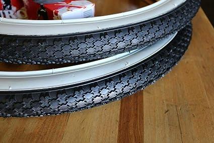 "1PAIR!Duro Bicycle Bike Tires /& Tubes 20/"" x 1.75/"" White Side Bike Tire"