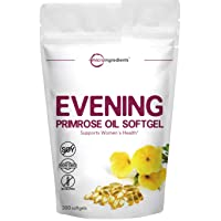 Evening Primrose Oil Softgels, 1300mg, 300 Counts, Evening Primrose Cold Pressed...