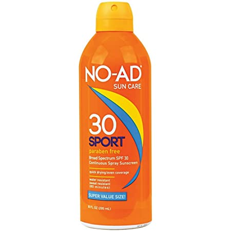 NO-AD Sport Continuous Spray Sunscreen, SPF 30 10 oz Pack of 3