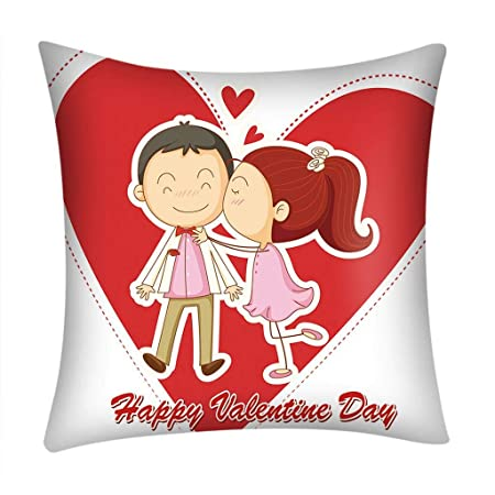 Fundas de Cojines,SHOBDW Regalo de San Valentin Impresión roja ...