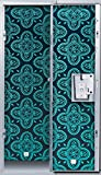 LockerLookz Locker Wallpaper - Midnight Paisley - 4 Panels