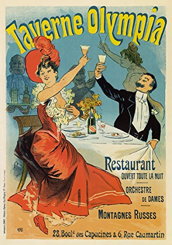 AP66 Vintage 1899 France Taverne Olympia Montagnes Russes Restaurant French Advertising Poster Re-Print - A4 (297 x 210mm) 11.7