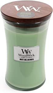 WoodWick White Willow Moss Pluswick Large Hourglass Candle, 22 oz.
