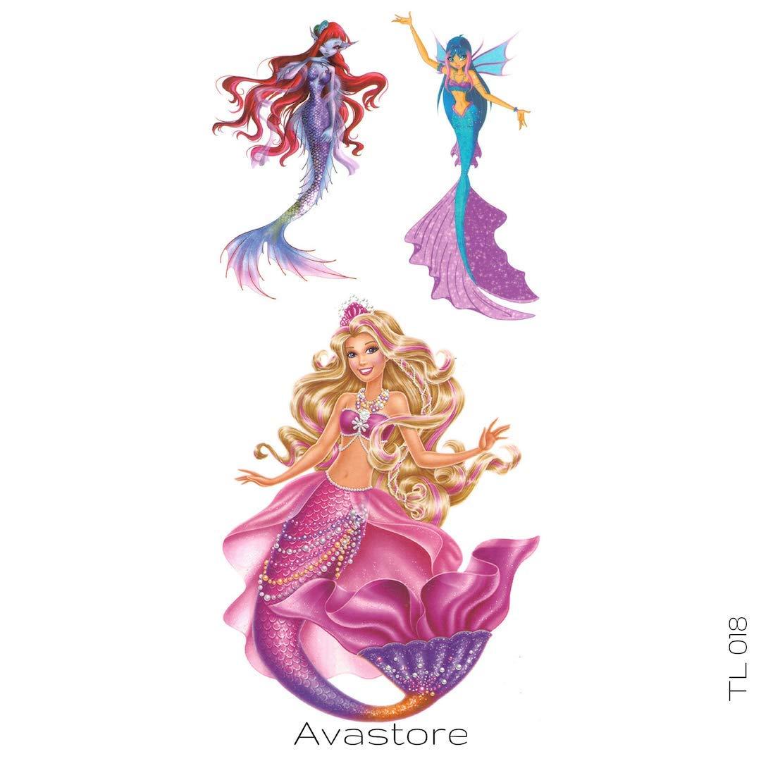 Tatuaje Temporal la Sirenita avastore: Amazon.es: Belleza