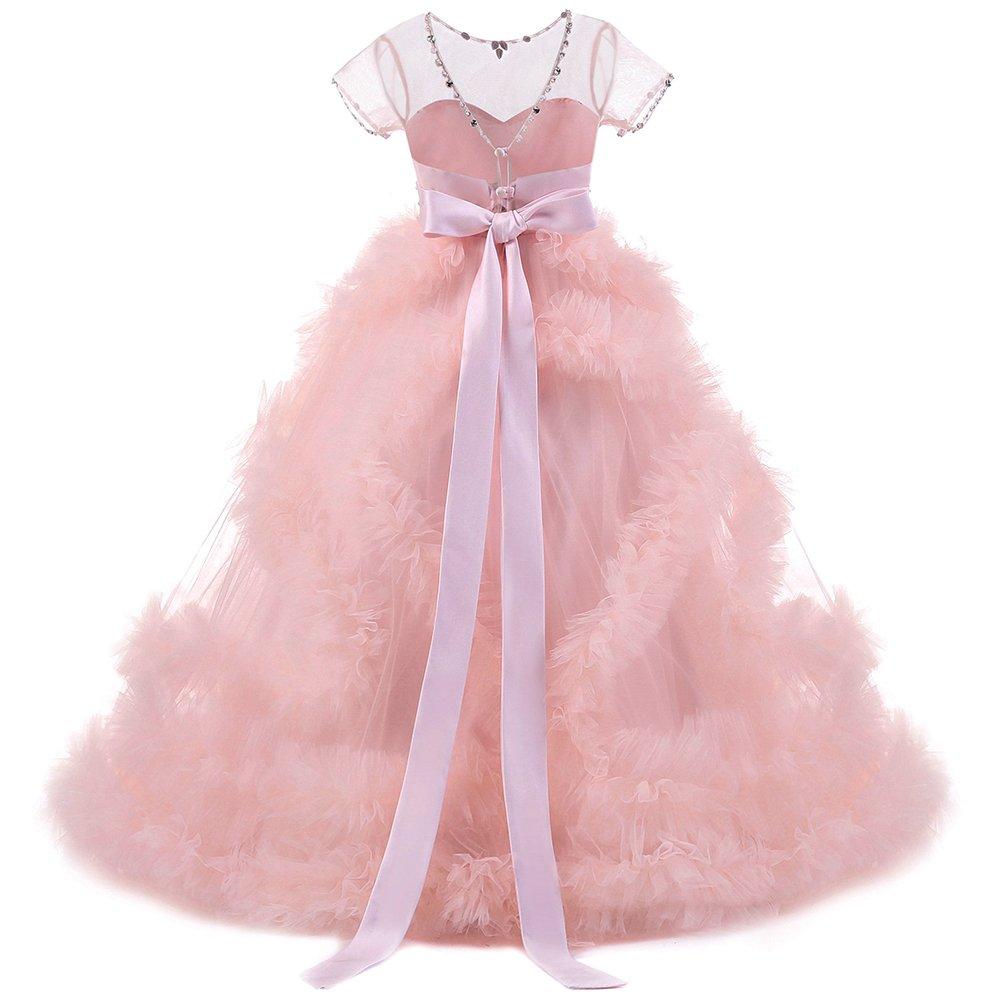 Vestido Baile de Cumpleaños Princesa de Encaje fiesta con Appliques ...
