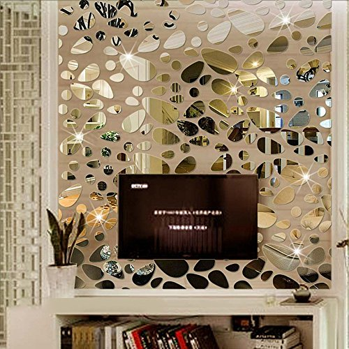18PCS Mirror Wall Stickers Decor
