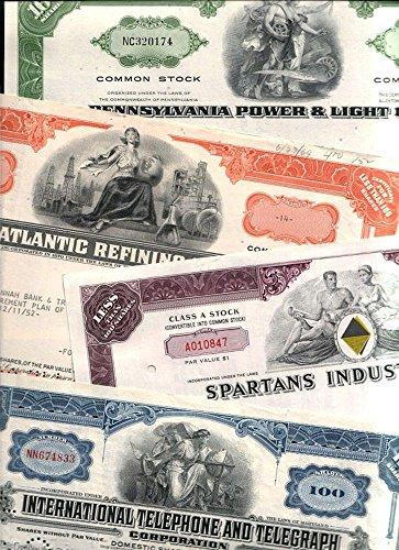 - 1965 AMAZON SPECIAL! 100 DIFFERENT RARE ORIGINAL U.S. STOCKS, BONDS and DEBENTURES @ 49c! MANY BIG NAMES! LOWEST PRICE ON EARTH! EXTRA FINE (AVERAGE GRADE)