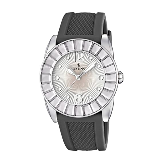 Festina Dream Time - Reloj analógico de mujer de cuarzo con correa de plástico gris: Festina: Amazon.es: Relojes