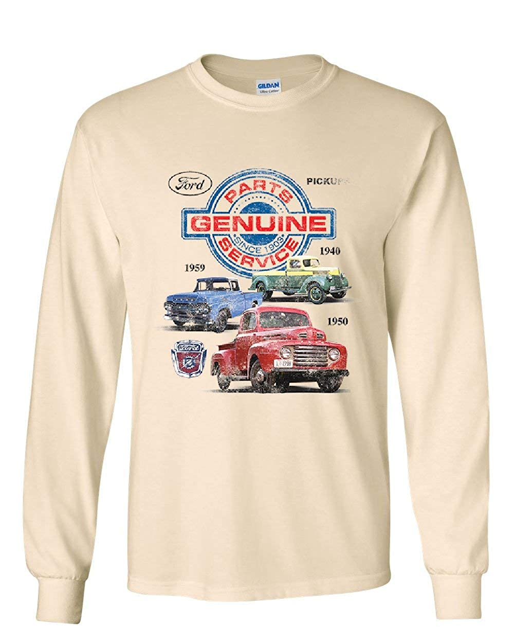 Ford Pickups Long Sleeve T-Shirt Genuine Parts American Classic Offroad Mud Tee