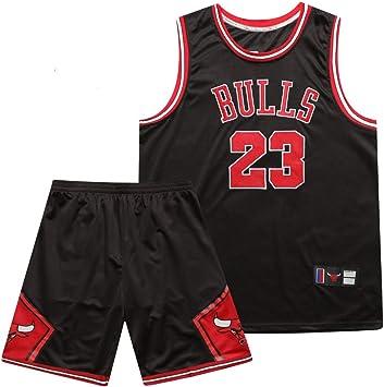 Jerseys de Baloncesto para Hombres Michael Jordan # 23 Chicago Bulls Camisa Bordada de Verano Conjunto de Pantalones Cortos de Chaleco: Amazon.es: Deportes y aire libre