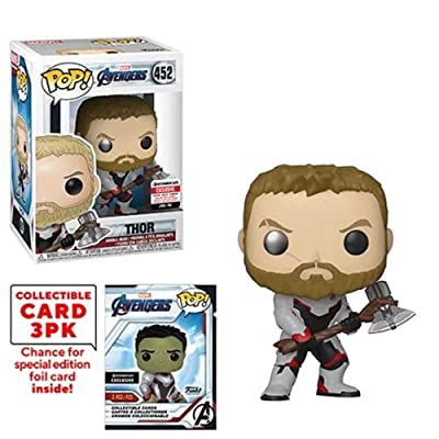 Funko Pop! Marvel : Avengers Endgame Thor Vinyl Figure with Collector Cards - Entertainment Earth Exclusive: Toys & Games