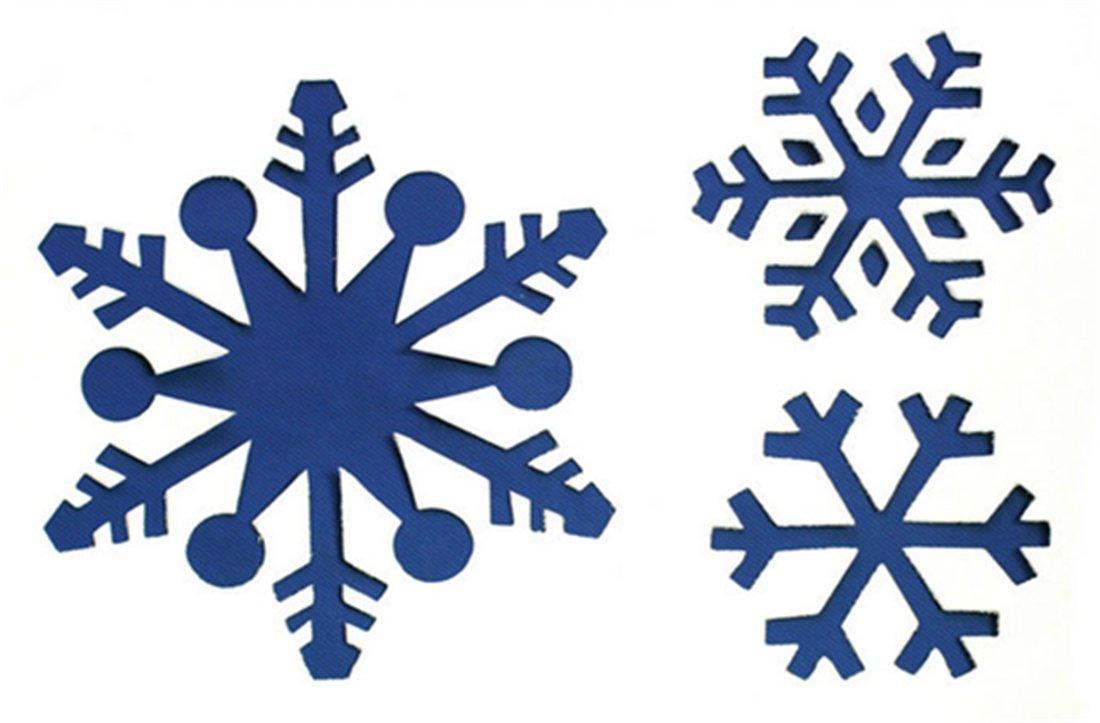 Amazon.de: SHINA 6pc Weihnachten Glasfenster Schnee-Spray Vorlage ...