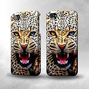 Apple iPhone 4 / 4S Case - The Best 3D Full Wrap iPhone Case - Blue Eyed Leopard