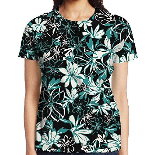 NavyLife Women's Original Hawaii Plants Casual Crew Neck Baseball Tee Short Sleeves T-Shirt Slim Fit Sports - Beyonce Skinny Jeans In
