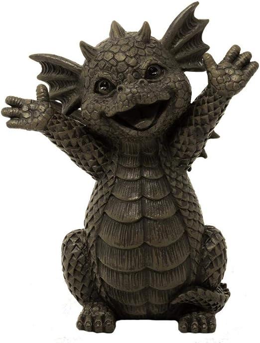 MC - Figura Decorativa para jardín, diseño de dragón: Amazon.es: Jardín