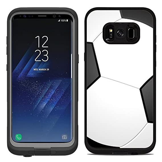 super popular e42d3 78f1a Protective Designer Vinyl Skin Decals / Stickers for Lifeproof Fre Samsung  Galaxy S8 Plus Case -Soccer Design Patterns - Only SKINS and NOT Case - by  ...