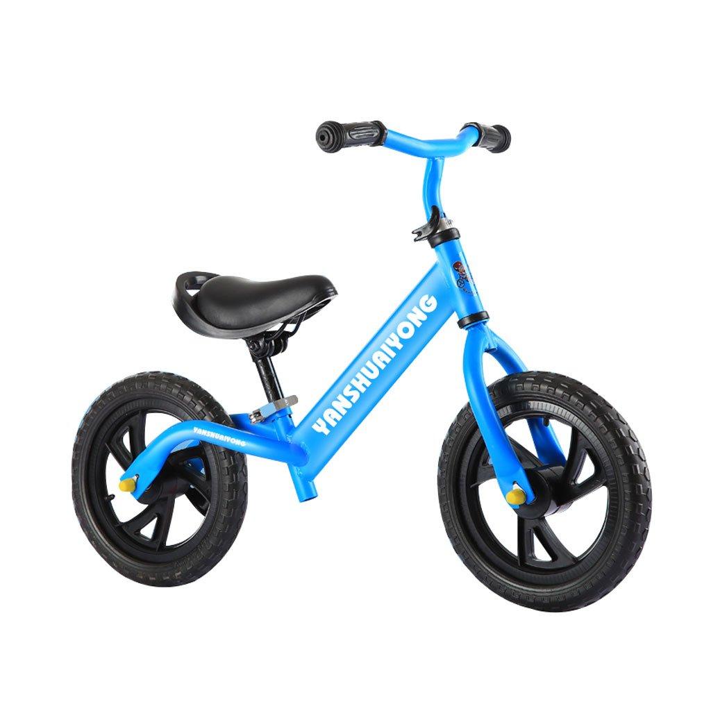 バランスの車は、ペダルなしで子供のスクーターを膨らませる必要はありませんベビースクーターバギー子供の自転車子供のスクーターベビースクーター2ラウンドウォーカー2-6歳 B01M0REWT3Blue