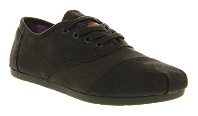 e3c1c13884e Image Unavailable. Image not available for. Colour  Toms Toms Cordones Lace  Black Waxed Twill ...