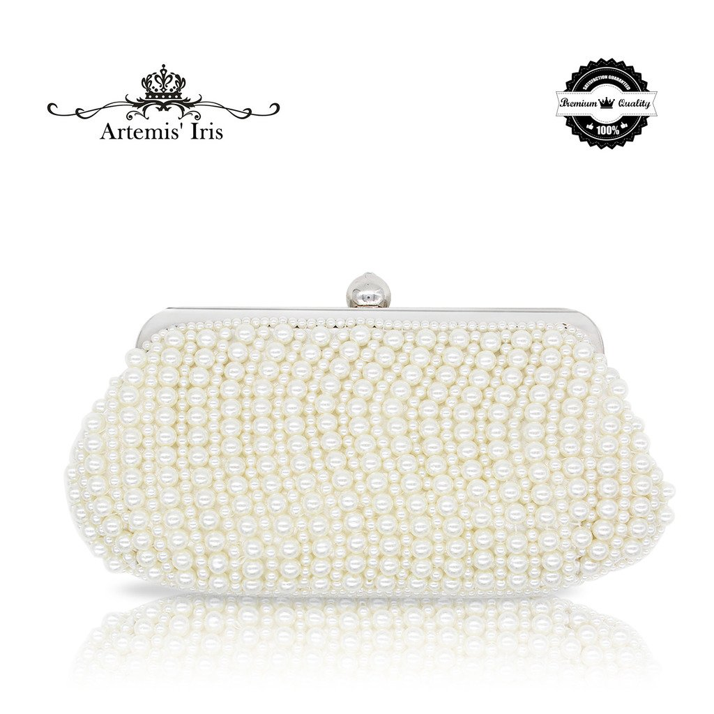 ArtemisIris Whole Pearl Handbag Girl Evening Purse with Diamante Ball Opener as Dress Collocation for Wedding, Party, Prom, Birthday (a Pack of ...