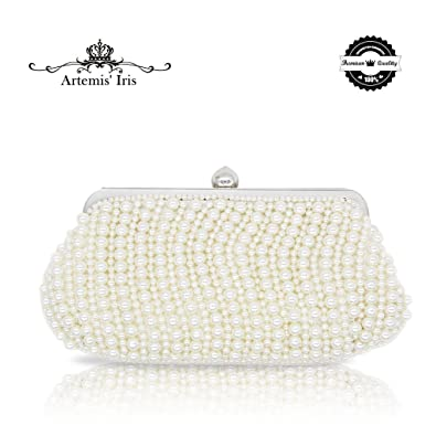 ArtemisIris Whole Pearl Handbag Girl Evening Purse with Diamante Ball Opener as Dress Collocation
