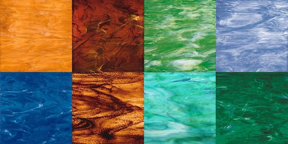 Spectrum Land & Sea Stained Glass Pack By Stallings Stained Glass