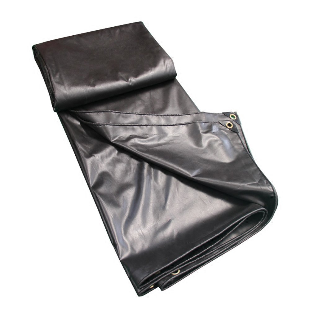 Unbekannt Z-P Zelt Stoff wasserdicht Outdoor Multifunktion Sonnenschutz LKW Wasserdicht Stoff schwarz Öl PVC Kunststoff Regenstoff 0,35 mm