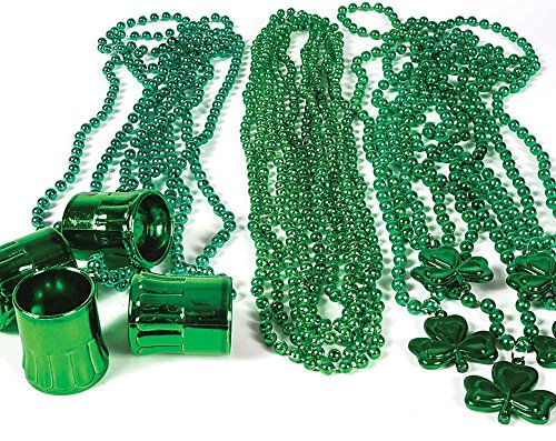 72 pc Shamrock St Patrick's Day Necklace Bead assortment
