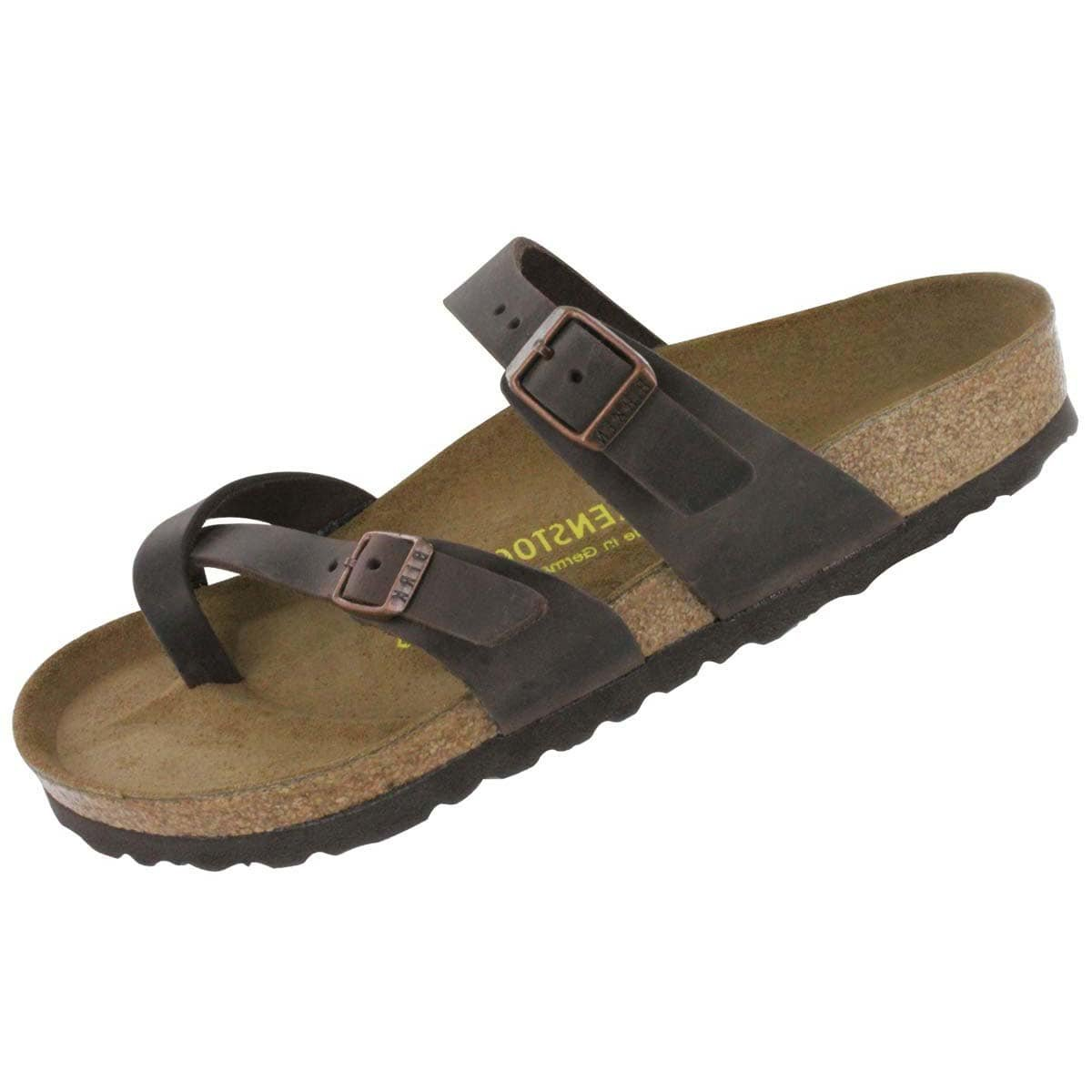 Birkenstock Women's Mayari Adjustable Toe Loop Cork Footbed Sandal Havana 36 M EU