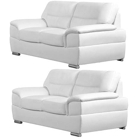 Simply StylisH Sofas Manchester sofás de Cuero Blanco (Todas ...