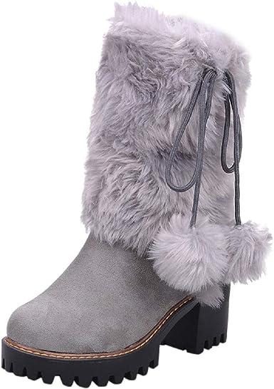 Amazon.com: Tsmile Women Fluffy Boots
