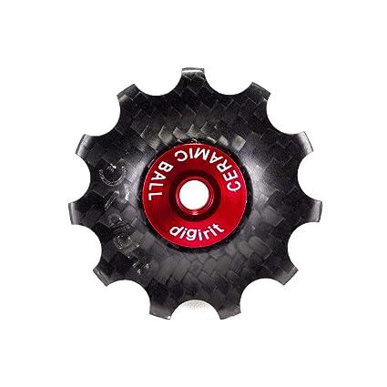 Digirit 11T Ruedas de Carbono para Jockey/polea con rodamientos de cerámica