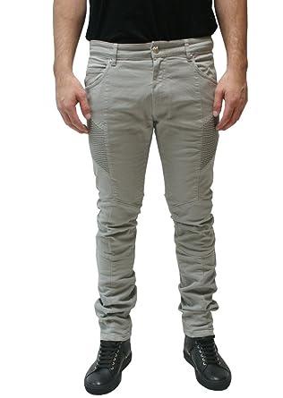 44a6229d Pierre Balmain Biker Denim Jeans, Khaki ($575-Now $315) at Amazon ...