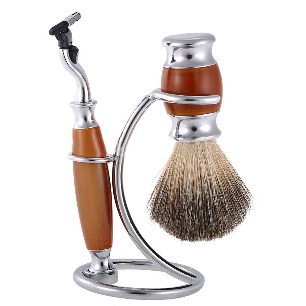 Gorgebuy 1 pc Hair Shaving Brush Shaving Stand - Sliver Safety Razor Stand for Shave Brush