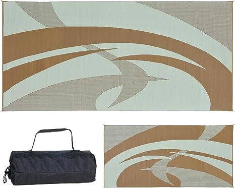 Reversible Mats 219187 Brown//Beige 9 feet x 18 feet Duo Horse Mat