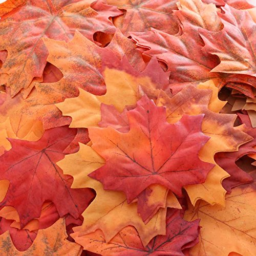 Factory Direct Craft Package of 120 Fall Colored Maple Leaves for Crafting, Events, and Embellishing - $13.29