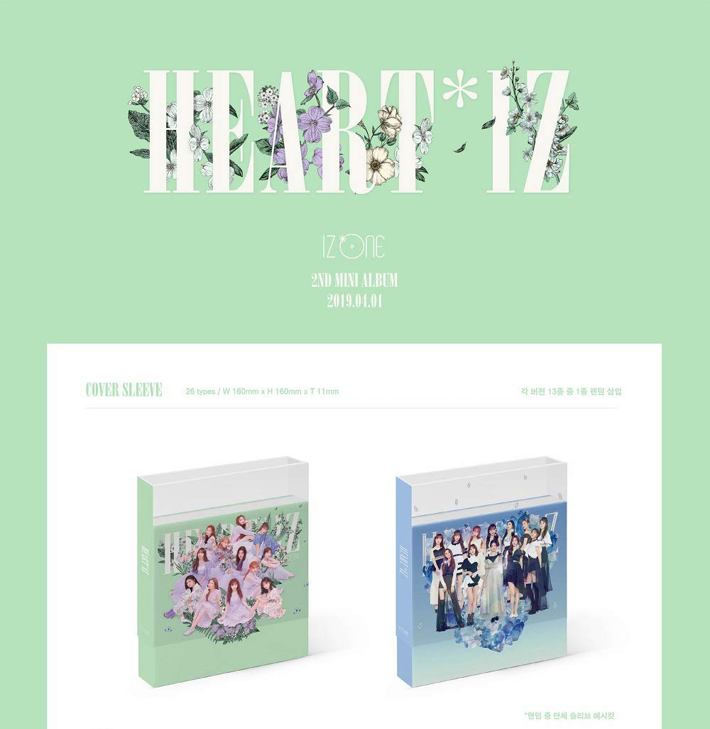 Off The Record IZONE IZONE - HEARTIZ [Sapphire ver.] (2nd Mini Album) 1CD+106p Photobook+Clear Sleeve+Mini Photobook+2Photocards+Pop-up Card+Folded Poster+Double Side Extra Photocards Set by Off The Record (Image #2)