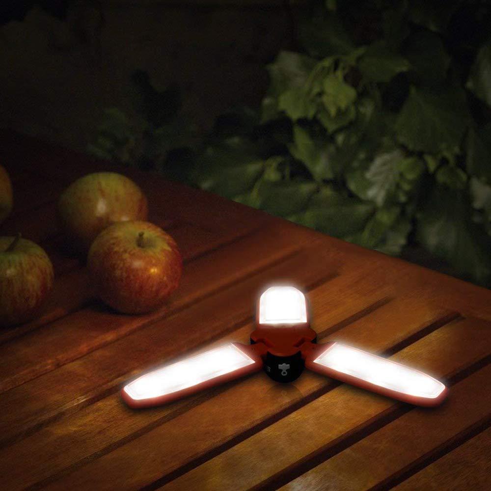 Linterna LED para camping Linterna plegable, Luminaria de lámpara lámpara lámpara LED plegable para camping con manivela Sistema recargable y gancho para colgar,Senderismo, Pesca, Aventura, Lámpara de camping 12df57