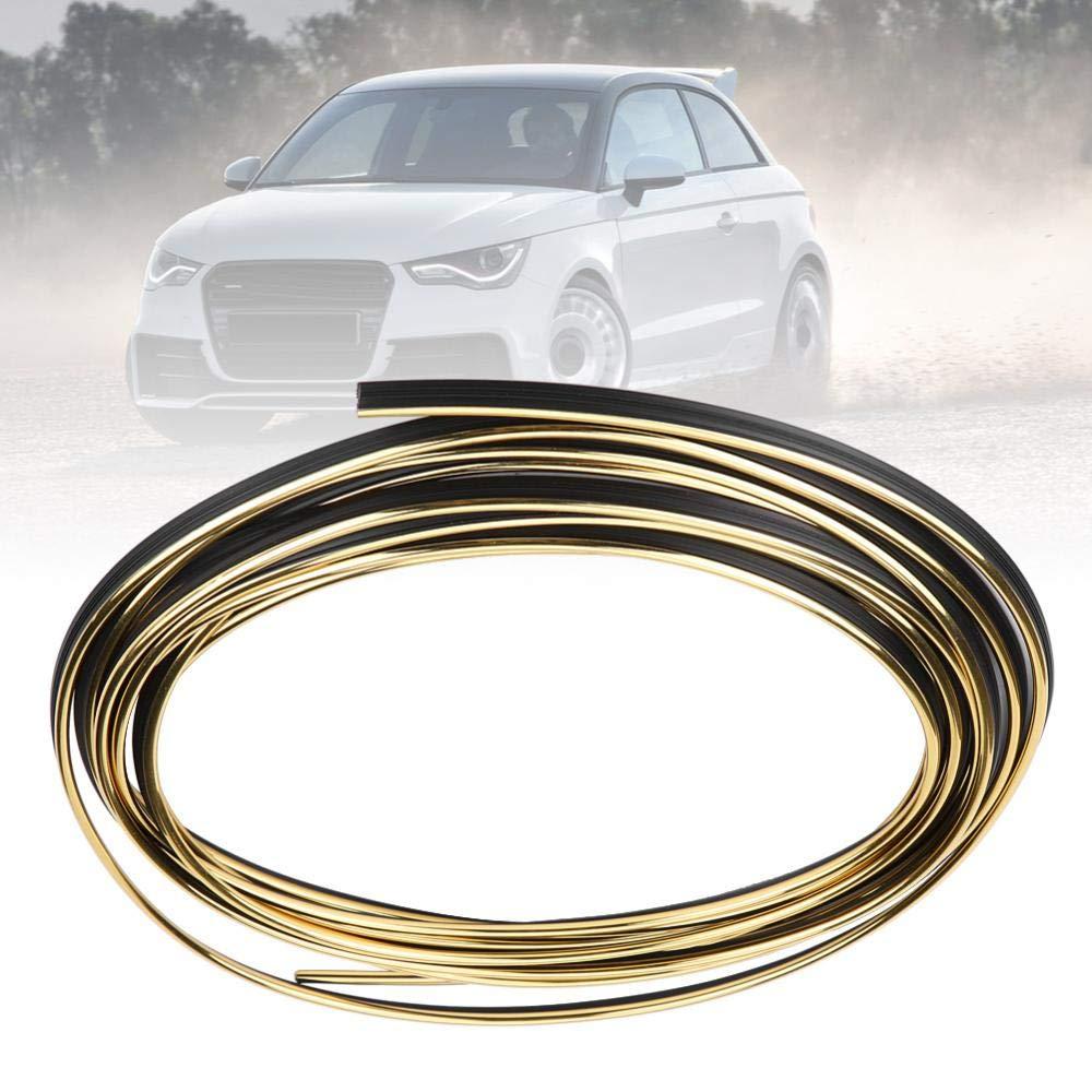Acouto Car Interior Decorative Moulding Trim Strip Line Sticker Plated Gold