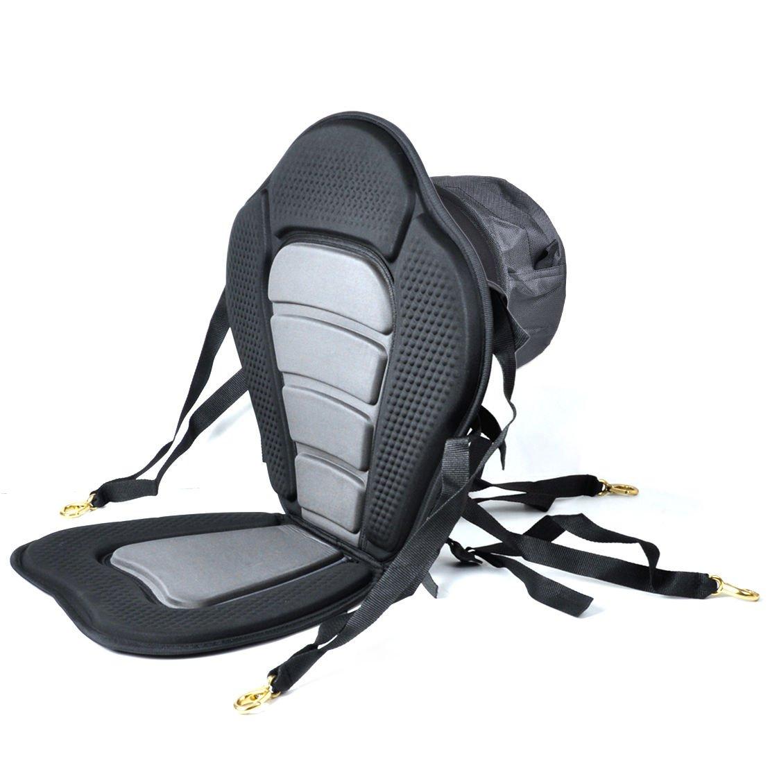 iGuerburn Adjustable Padded Kayak Boat Seat with Detachable Canoe Backrest Seat Bag - kayak seats