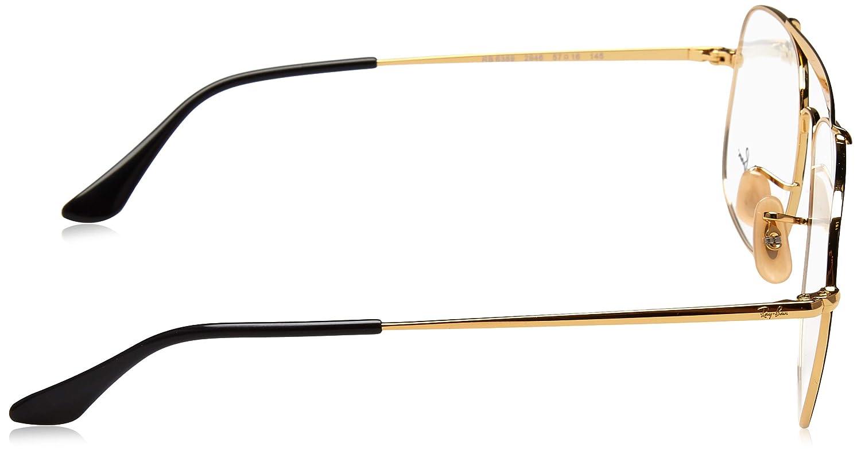 Amazon.com: Ray-Ban rb6389 2946 Gafas de oro/negro 55 MM ...