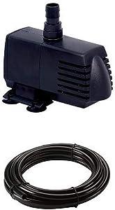 EcoPlus 728310 Eco 396 Submersible Pump, 396GPH and Vinyl Tubing Bundle