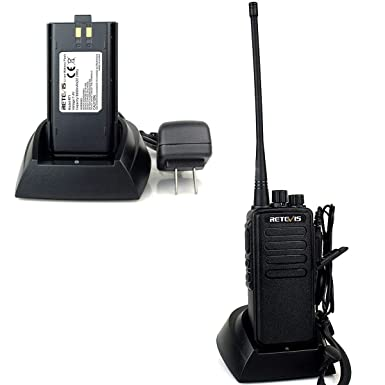 Retevis RT1 2 Way Radio High-Power VHF 16CH 3000mAh Two Way Radio with Earpiece 2 Pack and 2 Pin Speaker Mic 2 Pack