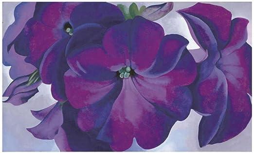 1925 Georgia O/'Keeffe Art Print Poster Purple Flower Floral 36x26 Petunias