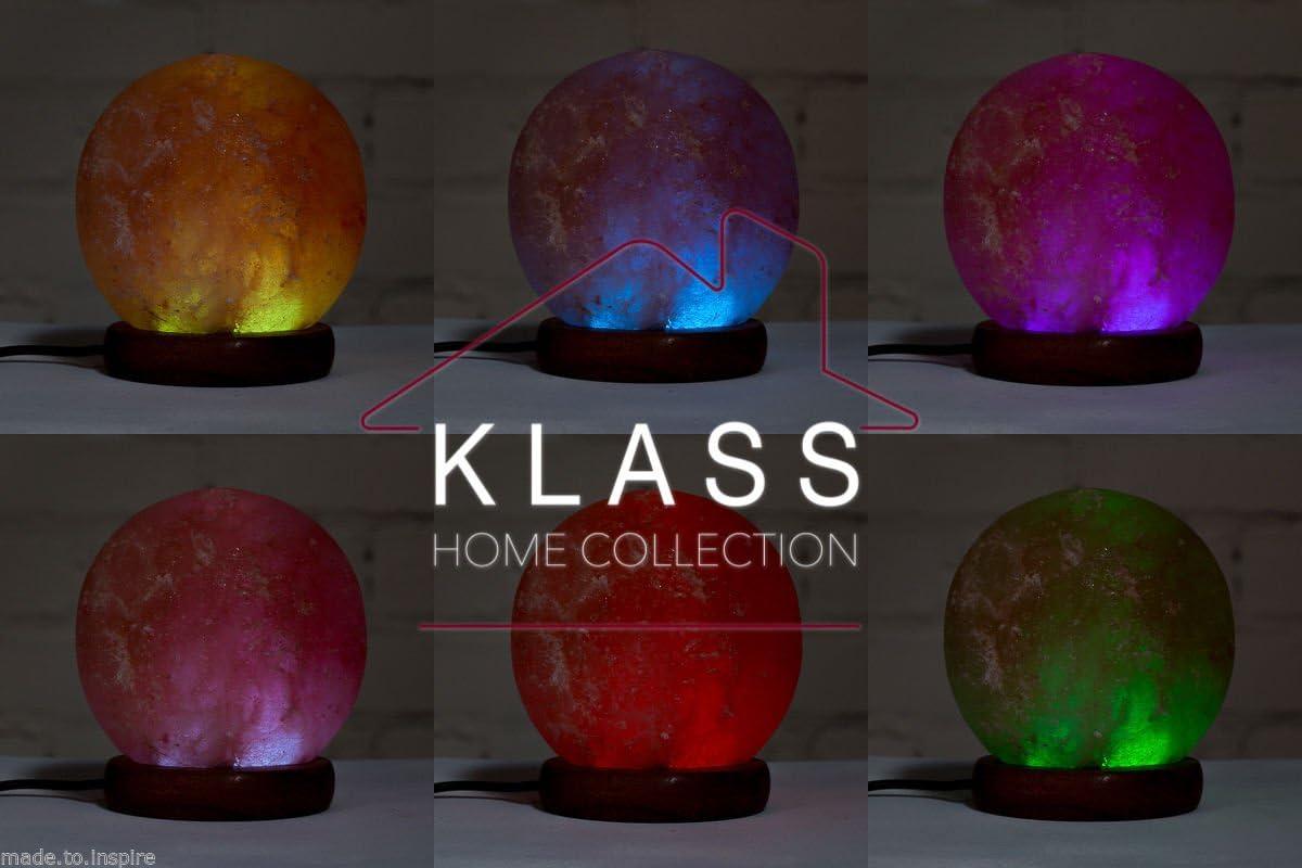 Lampe Naturelle de Sel de lHimalaya Bowl varies USB Warm pink LED Multicolore Klass Home Collection/®